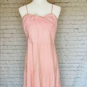 J. Crew Pink Stripped Dress